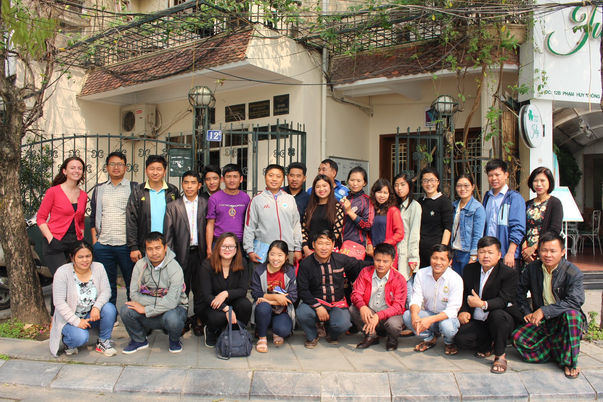 The group of activists and group from Kachin State, Myanmar visiting CENDI